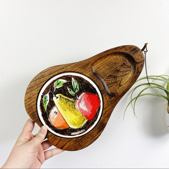 Vintage Fred Press Wooden Cheese Snack Tray
